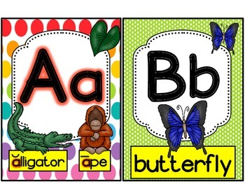 FREEBIE-- Animal Alphabet Set