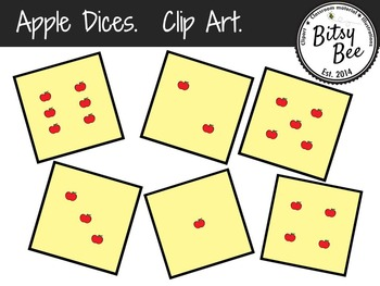 FREEBIE Apple Dices Clip Art