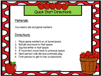 FREEBIE:  Apple Letter Orchard NO PREP Letter Identification Game