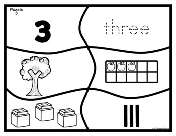 FREEBIE Apple Number Puzzles: Place Value Number Sense 0-20
