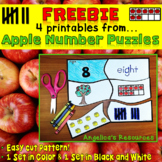Place Value Number Sense 0-20: Apple Number Puzzles - Easy Cut! FREEBIE