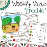 FREEBIE Apple Orchard Thematic Vocabulary Word Work