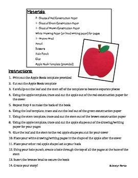 FREEBIE Apples! DIY Bookmaking