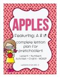 FREEBIE - Apples Preschool Lesson Plan