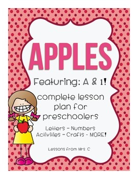FREEBIE - Apples Preschool Lesson Plan