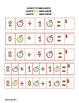 *FREEBIE* Apples for Sale--A gentle intro to algebraic thinking and money