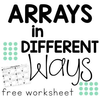 FREEBIE Arrays in Different Ways: Commutative Property Worksheet