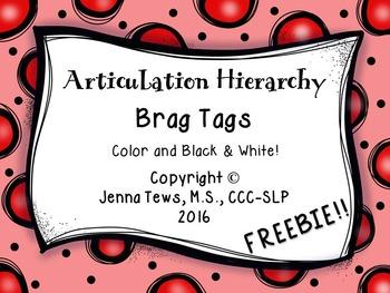 FREEBIE:  Articulation Hierarchy Brag Tags