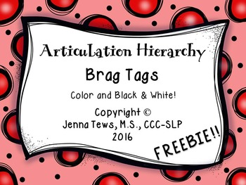 FREEBIE:  Articulation Hierarchy Brag Tags