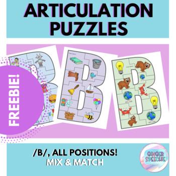 FREEBIE: Articulation Puzzles | (B)