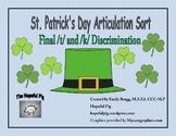 FREEBIE* St. Patrick's Day Articulation Sort: Final /t/ and /k/ Discrimination