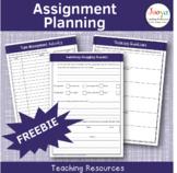 FREEBIE- Assignment Planning