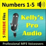 FREEBIE   Audio Clips   Sound Files   MP3s   Numbers One to Five