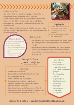 FREEBIE: Authentic ESOL Learning: Baking for English Purposes Fall Treats!