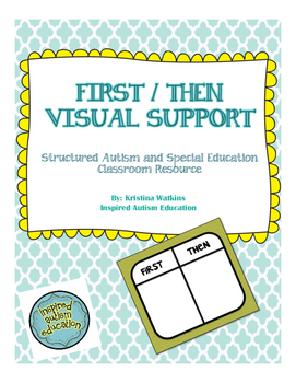 FREEBIE! Autism Visual: First Then Board