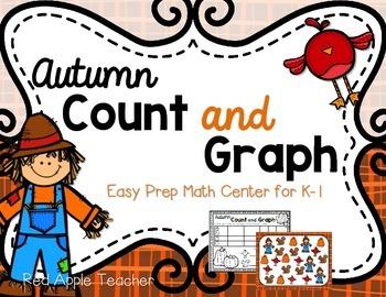 FREEBIE--Autumn Count & Graph--Math Center for K-1