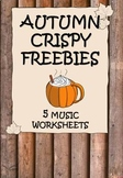 FREEBIE Autumn_Fall NO PREP Music Worksheets
