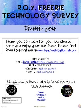 FREEBIE - B.O.Y. Technology Survey