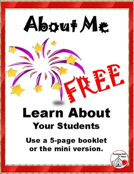 FREEBIE ... BACK to SCHOOL ... ABOUT ME ... FREE