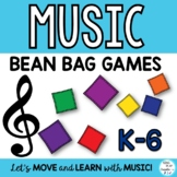 Music Class Bean Bag Games-Assessment, Review, Brain Breaks K-6