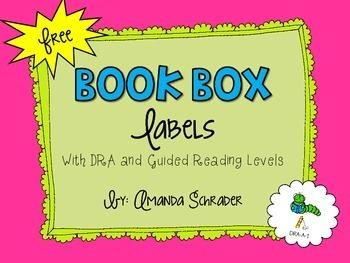 FREEBIE- BOOK BOX LABELS