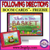 BOOM CARDS Following Directions Spring FREEBIE NO PRINT - Teletherapy