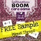FREEBIE BOOM! Subtraction Facts Card Sample Game MINUS THREES
