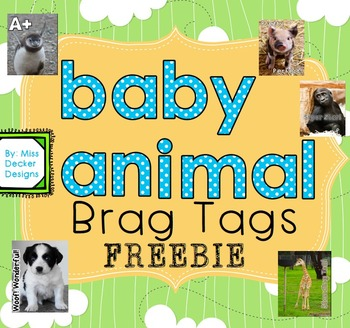 FREEBIE - BRAG TAGS (Baby Animals)
