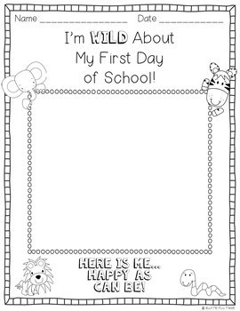 FREEBIE- Back To School Color Page and Writing Center