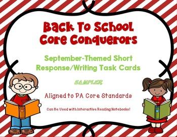 FREEBIE - Back To School ELA Upper Elem/Middle School Task Cards (CC Content)