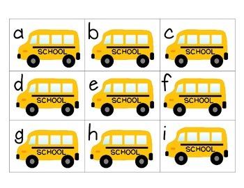 FREEBIE- Back to School Alphabet Match
