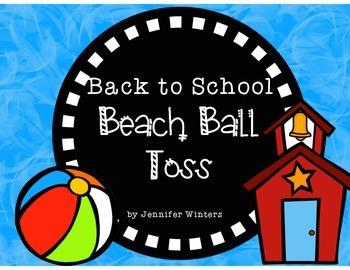 FREEBIE Back to School Beach Ball Toss