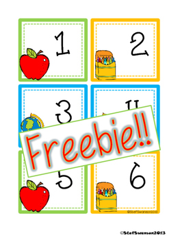 FREEBIE Back to School Calendar Cards {ABCC Pattern}