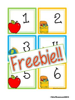 FREEBIE Back to School Calendar Cards {ABCC Pattern}
