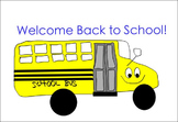 FREEBIE - Back to School Clipart - Pencil and Eraser, School Bus
