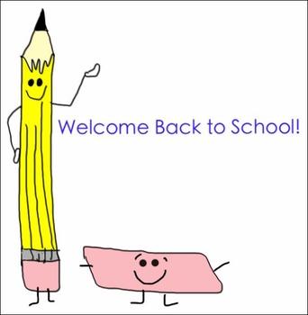 FREEBIE - Back to School Clipart - Pencil and Eraser, School Bus
