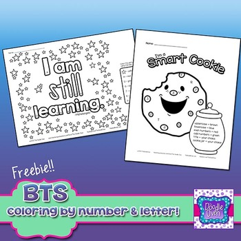 FREEBIE Back to School Color By Number and Letter Activities