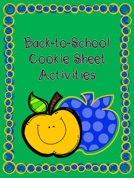 FREEBIE - Back to School Cookie Tray Activities