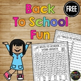 FREEBIE- Back to School Fun - Crossword Puzzle and Word Work {1st, 2nd, 3rd}