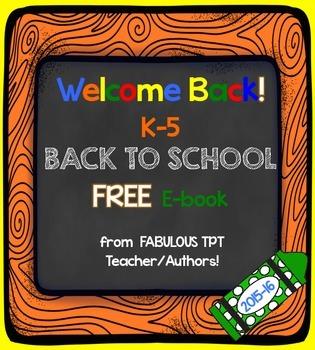 FREEBIE Back to School E-Book (Elementary K-5)