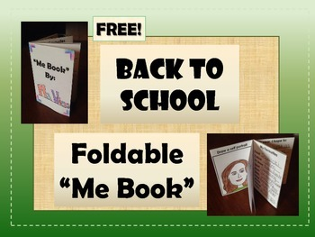 "FREEBIE: Back to School Foldable ""Me Book"" - First Day of School Activity"