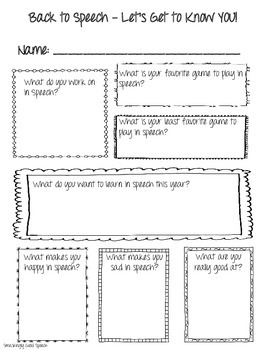 FREEBIE! Back to School Get to Know You Worksheets