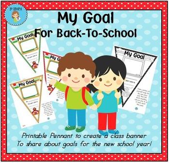 FREEBIE Back to School Pennant Banner Worksheet