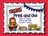FREEBIE: Back to School Print and Go!
