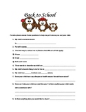 FREEBIE Back to School Questions for Parents