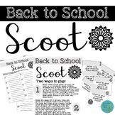 FREEBIE! Back to School SCOOT!