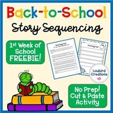 FREEBIE - Back to School Story Sequencing Cut and Paste