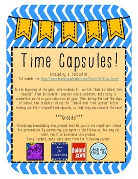 {FREEBIE} Back-to-School Time Capsule Writing Activity