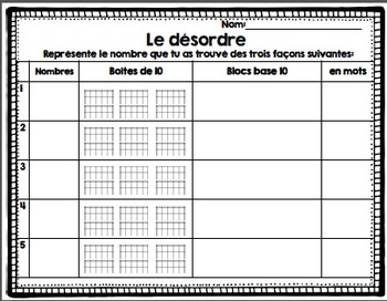 FRENCH Back to school FREEBIE/ Atelier de mathématique {Rentrée}