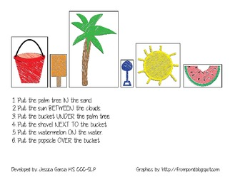 FREEBIE- Beach prepositions